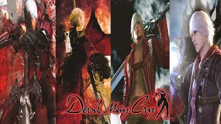DEVIL MAY CRY Complete Saga Movie (Devil May Cry 1,2,3,4 All Cutscenes Movie)