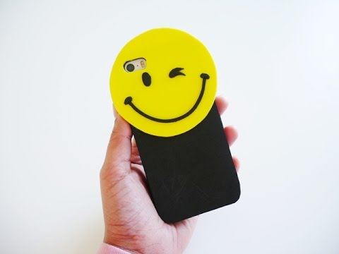 How to make Easy DIY Smiley Face Cell Case