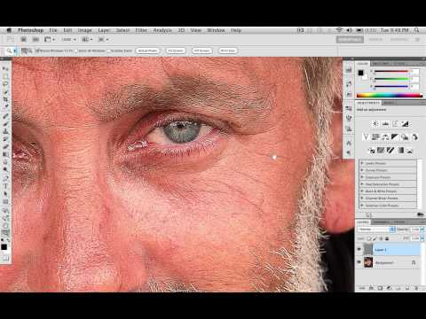How to correctly sharpen a photo in Photoshop CS5 HD