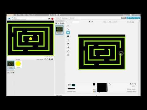 Making Games in Scratch - PacMan - Part 3: Making the Maze