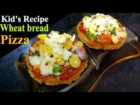 Instant Bread pizza recipe | Wheat bread pizza  | Kid's recipe | quick breakfast idea