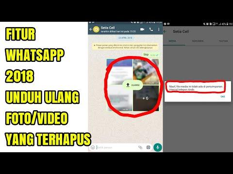 Fitur Whatsapp 2018 Cara Mengembalikan Foto, Video Dan GIF Yang Terhapus Dari Galery