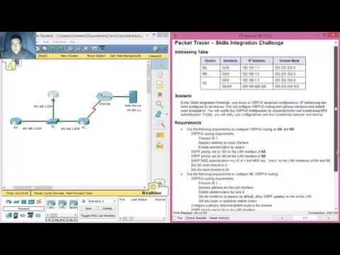 10.3.1.2 - 5.3.1.2 Packet Tracer - Skills Integration Challenge