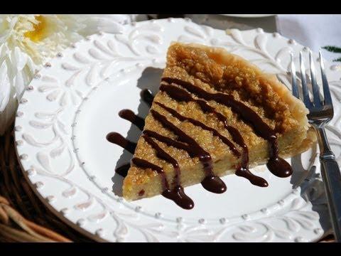 Coffee Tart with Chocolate Sauce / Tart au Café avec Sauce Chocolat