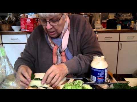 marcia sandmeyer wilson makes CUCUMBER SANDWICHES for TEA 12 29 15 leonia, nj