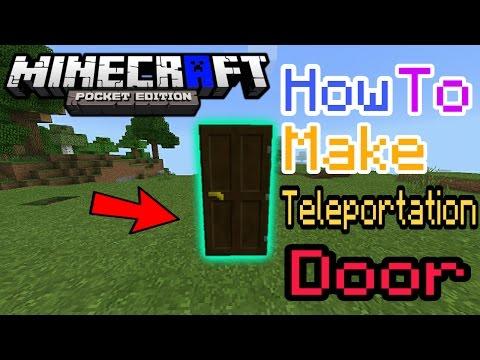 HOW TO MAKE TELEPORTATION DOOR MCPE | Minecraft PE