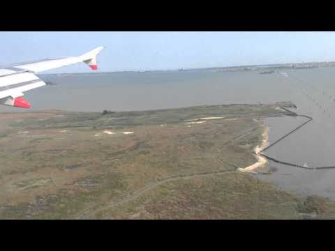 Landing in Venice Marco Polo Airport British Airways A320
