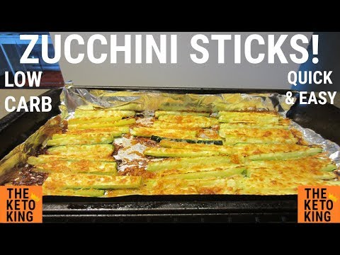 Low Carb Zucchini Sticks| Zucchini Fries |EASY side | Keto | Only 4 ingredients!