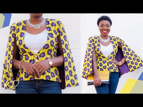 HOW TO SEW A CAPE BLAZER | KIM DAVE