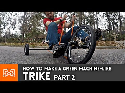 Trike (Green Machine) from junk - Part 2 // How-To