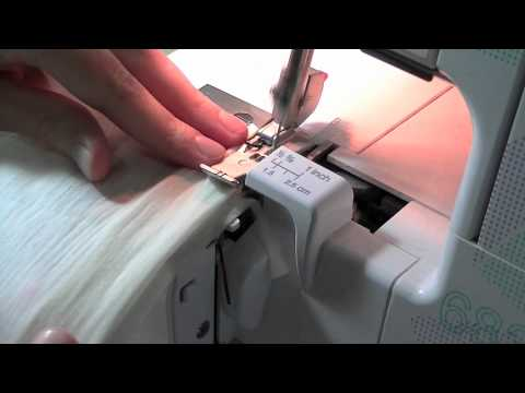 Easy hem sewn by overlocker