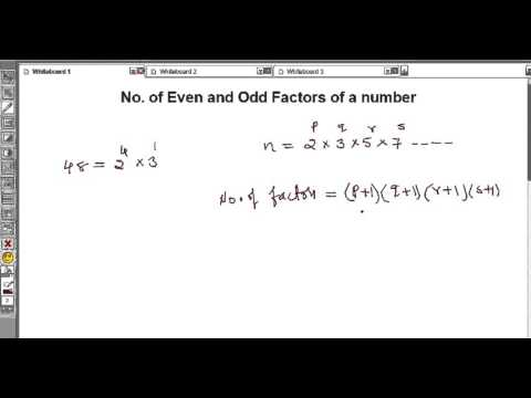Number of Even and Odd factors