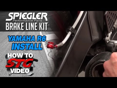 How to Install a Spiegler Front & Rear Brake Line Kit on a Yamaha YZF-R6 from Sportbiketrackgear.com
