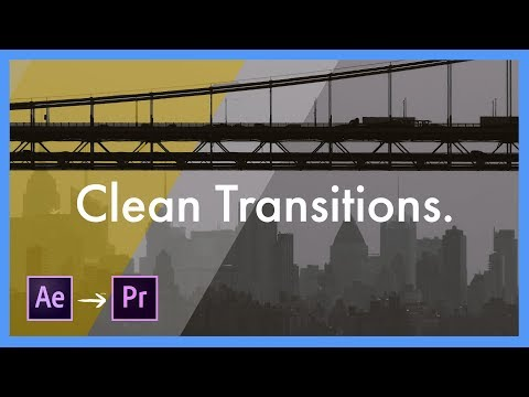Clean Transition Template Pack - Adobe After Effects CC to Premiere Pro CC Tutorial