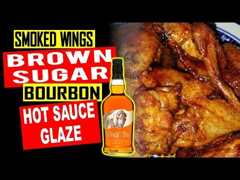 Smoked Wings with Brown Sugar Bourbon Hot Sauce Glaze on Rec Tec 680