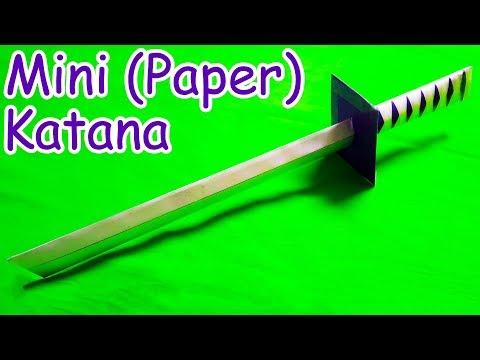 How to make a Paper Sword | Japanese Katana Sword (Mini)