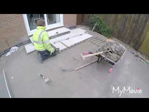 Digging out and laying a patio
