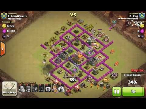 Barbarians and archers vs town hall 7 Clash of clans