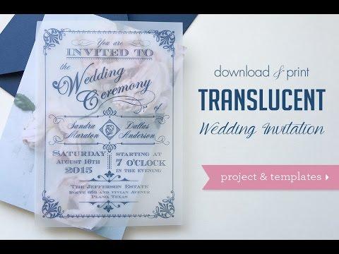 Download & Print: DIY Translucent Wedding Invitations