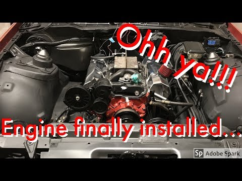 SBC 357 / Engine Is Installed In The Camaro