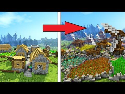 Minecraft Timelapse: Remodelling a Village