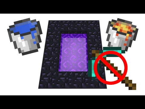 ✔How to make the Nether Portal Without Getting Obsidian or Diamonds in Minecraft PE