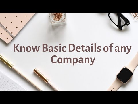 Check whether Company is Registered in India or not