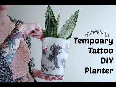 Temporary Tattoo DIY Planter!