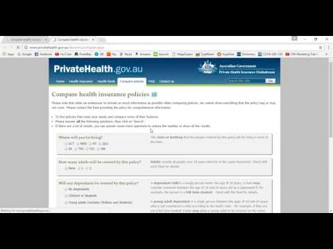 Compare health insurance Part 1
