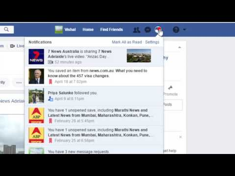 How to turn off page notifications in Facebook