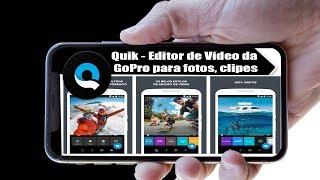 Quik - Editor De Vídeo, Fotos, Clipes Da Gopro Para Smartphone.