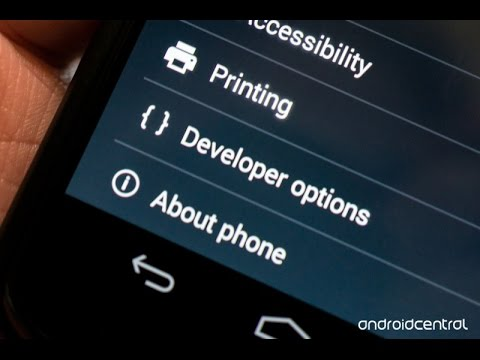 How to enable Developer Options on Android lollipop & kitkat
