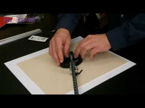 How to Cut Oval Picture Frame Mat Boards Logan Oval Mat Cutter