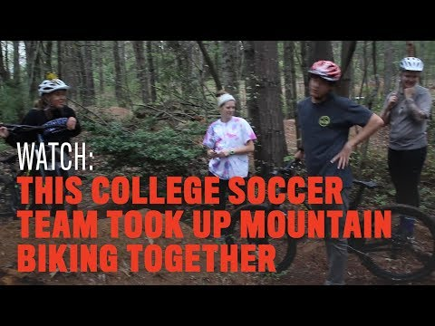 This College Soccer Team Took Up Mountain Biking Together
