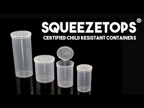 Squeezetops®: Certified Child Resistant Plastic Containers