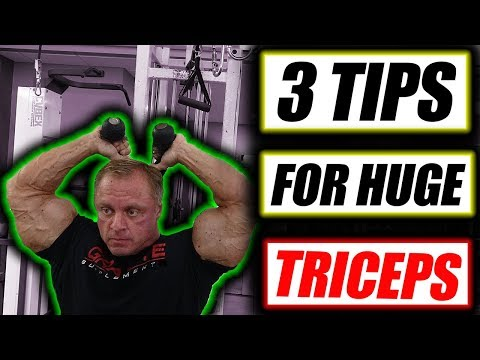 3 Tips to get Monster Triceps fast