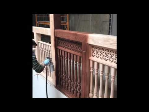 Fg painting staining wooden railings