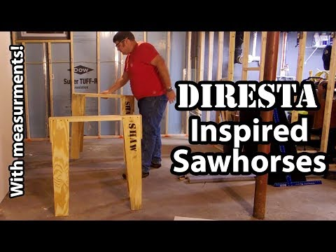 Diresta Inspired Sawhorses (With Measurements/Angles!)