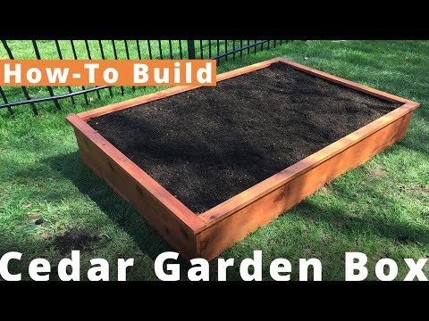 How to Make a DIY Cedar Garden Box for $100 | Woodworking