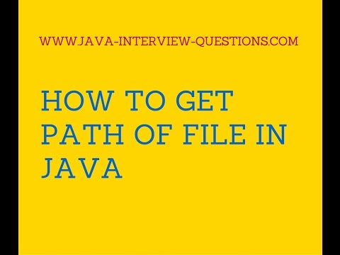 How to get path of a file in java?
