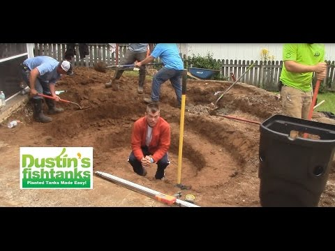 How to build a garden pond  Digging it out