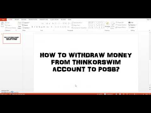 How to transfer money from TOS to POSB