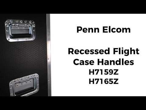 Recessed Flight Case Handles | Penn Elcom Flight Case Hardware