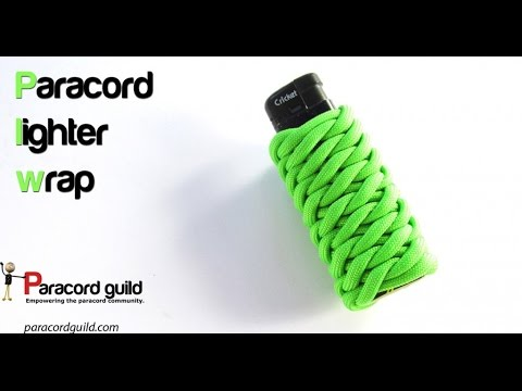 Paracord lighter wrap- using the fish scale braid