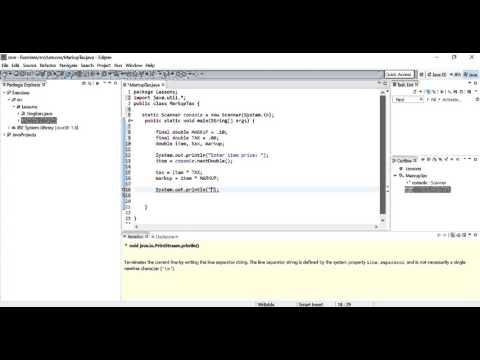 Calculate markup price and tax percentage Java program