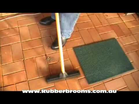 Rubber brooms