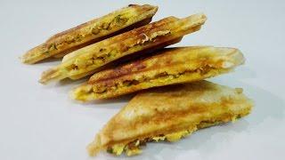 Chicken Sandwich Recipe ||  Cheesy Chicken Sandwich || Chicken Masala Sandwich