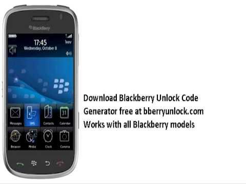 get free unlock code for blackberry