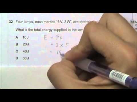 2010 O' Level Physics 5058 Paper 1 Solution Qn 31 to 35