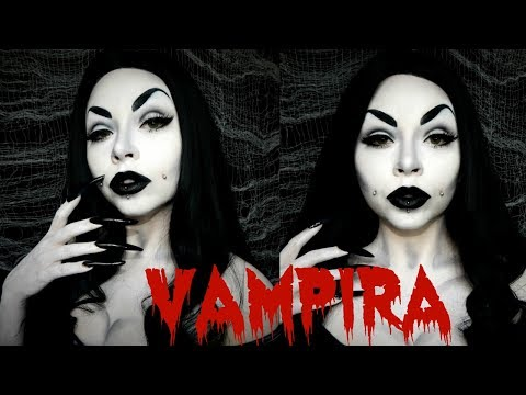 Vampira - Black & White Makeup | HALLOWEEN 2017 MAKEUP TUTORIAL